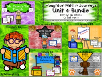 Houghton Mifflin Journeys Unit 4 Review Question Task Card