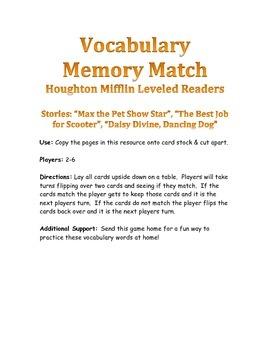 Houghton Mifflin Leveled Readers Vocabulary Match: Officer