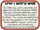 Houghton Mifflin New York City Unit 1 Word Wall