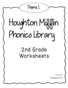 Houghton Mifflin Phonics Library: 2nd Grade - Theme 1 Worksheets