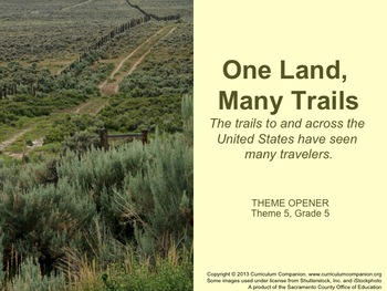 Houghton Mifflin Reading Gr 5 Theme 5 One Land Many Trails