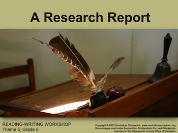 Houghton Mifflin Reading Gr 5 Writing: A Research Report C