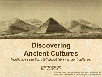 Houghton Mifflin Reading Gr 6 Discovering Ancient Cultures