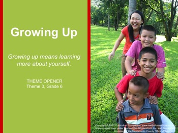 Houghton Mifflin Reading Gr 6 Theme 3 Growing Up Common Co