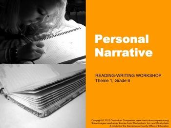 Houghton Mifflin Reading Gr 6 Writing: Personal Narrative