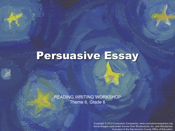 Houghton Mifflin Reading Gr 6 Writing: Persuasive Essay Co