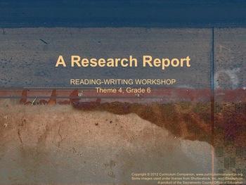 Houghton Mifflin Reading Gr 6 Writing: Research Report Com