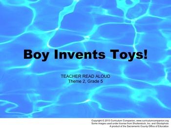 Houghton Mifflin Reading Grade 5 Boy Invents Toys! Common