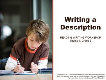 Houghton Mifflin Reading Grade 5 Writing a Description Com