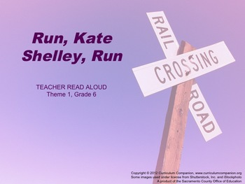 Houghton Mifflin Reading, Grade 6, Run, Kate Shelley, Run