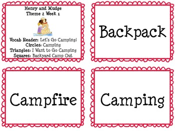 Houghton Mifflin Theme 2 Vocabulary Cards