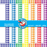 Houndstooth Page Frames — Primary Colors (11 Frames)