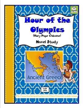 Hour of the Olympics Novel Study with FREE Task Cards (CC