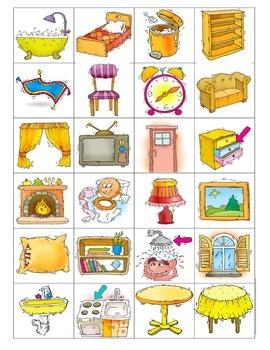 House Vocabulary Memory Game