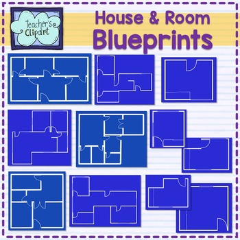 House and room blueprints Clip Art
