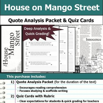 House on Mango Street - Quote Analysis & Reading Quizzes