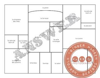 House vocabulary floor plan game