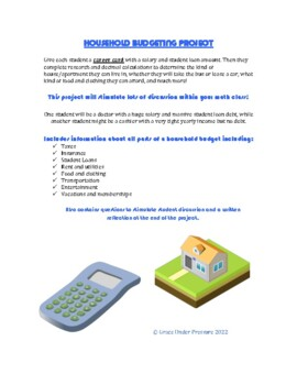 Household Budget Project: Taxes, Insurance, Loans, Rent, G