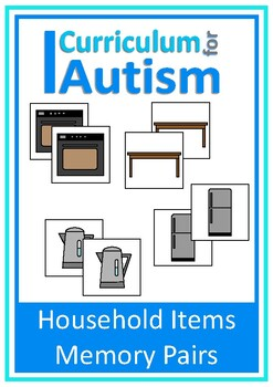 Household Items Memory Pairs Game, Autism, Special Educati