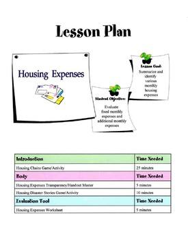 Housing Expenses Lesson