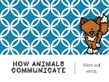 How Animals Communicate PowerPoint