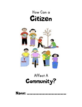 How Can a Student Affect a Community?: A  Student Work Packet