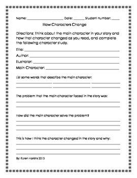 How Characters Change