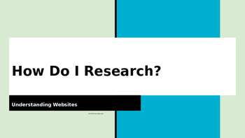 How Do I Research?