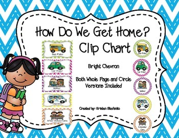 How Do We Get Home? Clip Chart and Graph (Bright Chevron)