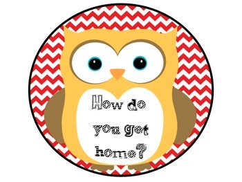 How Do You Get Home Owls Red and Teal Chevron