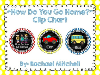 How Do You Go Home? Clip Chart & Lunch Clip Chart BUNDLE-