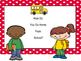 Editable: How Do You Go Home?  Polka Dot Posters and Backp