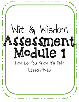How Do You Know It's Fall Grade 2 Assessment