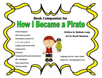How I Became A Pirate, Speech/Language Narrative Unit, Spe