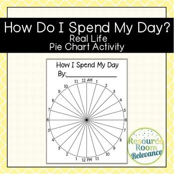 How I Spend My Day-Real Life Pie Chart Circle Graph Activity