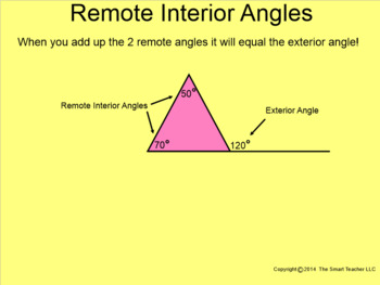 How I Teach Exterior and Remote Interior Angles