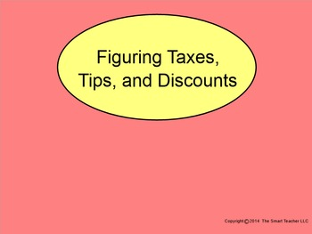 How I Teach Figuring Taxes, Tips, and Discounts