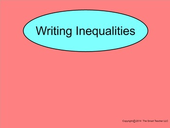 How I Teach Writing Inequalities