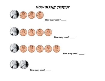 How Many Cents? (nickels & dimes)