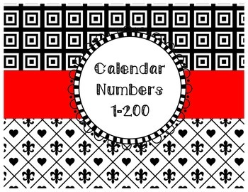 How Many Days Have We Been in School? Calendar Numbers 1-200