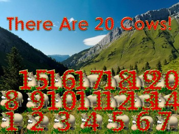 How Many Do You See 5 PowerPoint Games (16 - 20 Numbers)