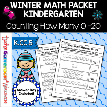 Counting How Many 0-20 Math Worksheets - K.CC.5