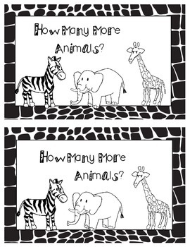 How Many More?  (Animal Themed) - Black Line