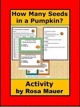 How Many Seeds in a Pumpkin Literacy Unit