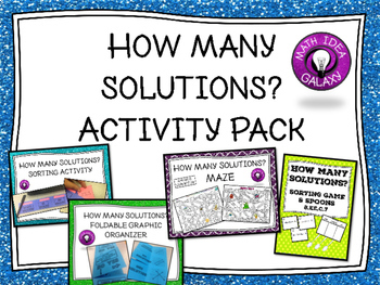 How Many Solutions Activity Pack
