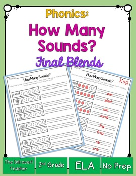 How Many Sounds? Featuring Final Consonant Blends