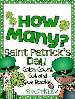 How Many? (St. Patrick's Day) Color, Count, Cut and Glue Booklet