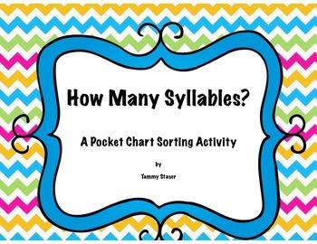 How Many Syllables-A Pocket Chart Activity