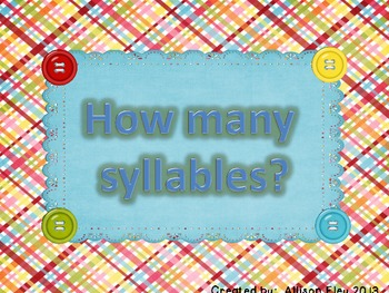 How Many Syllables sort