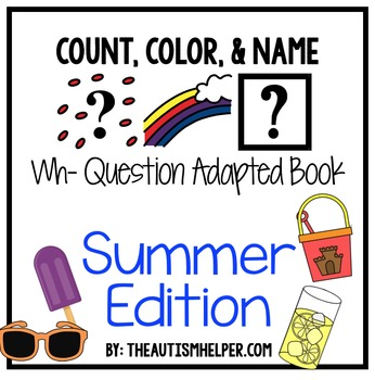 How Many? What Color? What? Adapted Book {SUMMER}